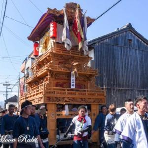 上神拝だんじり(屋台) 統一運行 伊曽乃神社祭礼 西条祭り2019 愛媛県西条市