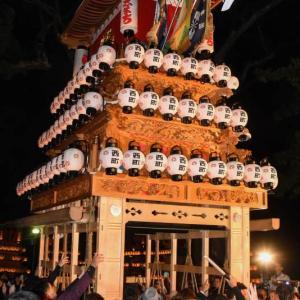 西町だんじり(屋台) 宮出し 伊曽乃神社祭礼 西条祭り2019 愛媛県西条市