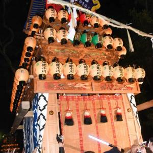 仲町小川だんじり(屋台) 宮出し 伊曽乃神社祭礼 西条祭り2019 愛媛県西条市
