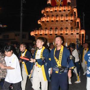 蛭子だんじり(屋台) 氷見地区前夜祭 石岡神社祭礼 西条祭り2019 愛媛県西条市