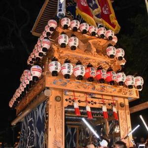 北之町下組だんじり(屋台) 宮出し 伊曽乃神社祭礼 西条祭り2019 愛媛県西条市