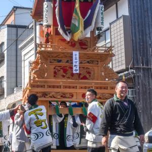 下町中組だんじり(屋台) 統一運行 伊曽乃神社祭礼 西条祭り2019 愛媛県西条市