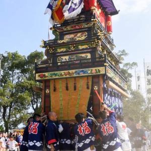楢之木だんじり(屋台) 本殿祭 石岡神社祭礼 西条祭り2019 愛媛県西条市