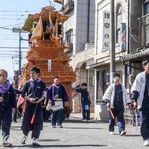 下町南だんじり(屋台) 統一運行 伊曽乃神社祭礼 西条祭り2019 愛媛県西条市