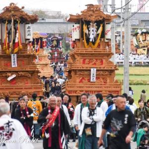 坂元だんじり(屋台) 渡御行列 石岡神社祭礼 西条祭り2019 愛媛県西条市