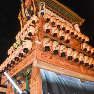 登道だんじり(屋台) 御旅所 伊曽乃神社祭礼 西条祭り2019 愛媛県西条市