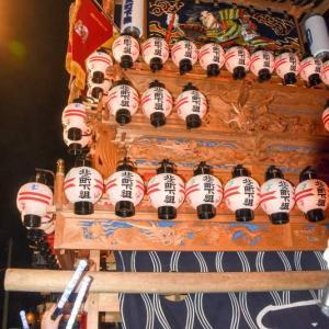北之町下組だんじり(屋台) 御旅所 伊曽乃神社祭礼 西条祭り2019 愛媛県西条市