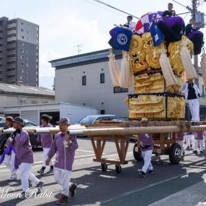 上組太鼓台 花集め運行 飯積神社祭礼 西条祭り 愛媛県西条市神拝