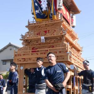 錦町だんじり(屋台) 統一運行 伊曽乃神社祭礼 西条祭り2019 愛媛県西条市
