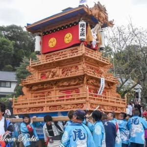 尾土居だんじり(屋台) 本殿祭 石岡神社祭礼 西条祭り2019 愛媛県西条市