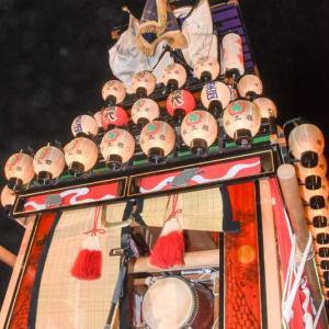 松之巷だんじり(屋台) 御旅所 伊曽乃神社祭礼 西条祭り2019 愛媛県西条市