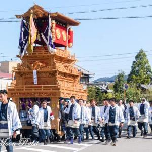 八丁だんじり(屋台) 統一運行 伊曽乃神社祭礼 西条祭り2019 愛媛県西条市