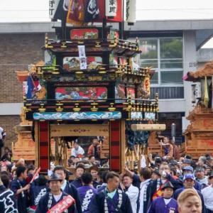 四軒町屋台(だんじり) 御殿前 伊曽乃神社祭礼 西条祭り2018 愛媛県西条市