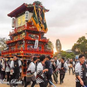 朝日町だんじり(屋台) 本殿祭 石岡神社祭礼 西条祭り2019 愛媛県西条市