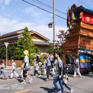 栄町上組だんじり(屋台) 西条駅前 伊曽乃神社祭礼 西条祭り2018 愛媛県西条市大町