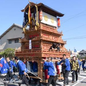 大師町だんじり(屋台) 統一運行 伊曽乃神社祭礼 西条祭り2019 愛媛県西条市