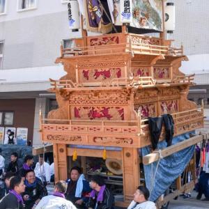 花園町だんじり(屋台) 西条駅前 伊曽乃神社祭礼 西条祭り2018 愛媛県西条市大町