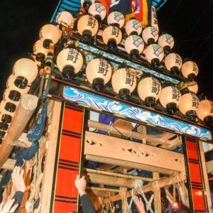 四軒町だんじり(屋台) 御旅所 伊曽乃神社祭礼 西条祭り2019 愛媛県西条市