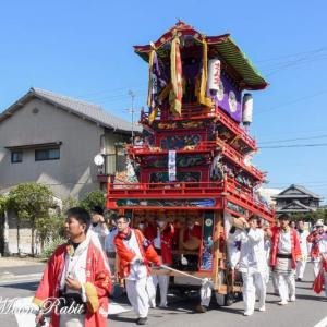 新地だんじり(屋台) 統一運行 伊曽乃神社祭礼 西条祭り2019 愛媛県西条市