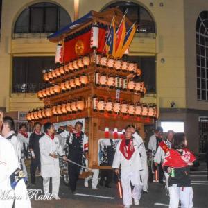 常心下組だんじり(屋台) 後夜祭 西条駅前 伊曽乃神社祭礼 西条祭り2019 愛媛県西条市