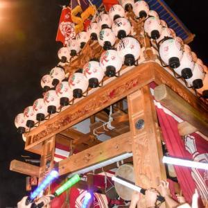 古川だんじり(屋台) 御旅所 伊曽乃神社祭礼 西条祭り2019 愛媛県西条市