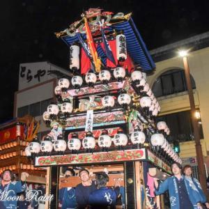 新玉通だんじり(屋台) 後夜祭 西条駅前 伊曽乃神社祭礼 西条祭り2019 愛媛県西条市