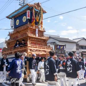 東町だんじり(屋台) 統一運行 伊曽乃神社祭礼 西条祭り2019 愛媛県西条市