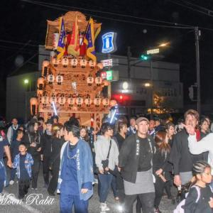 朝日町だんじり(屋台) 後夜祭 西条駅前 伊曽乃神社祭礼 西条祭り2019 愛媛県西条市
