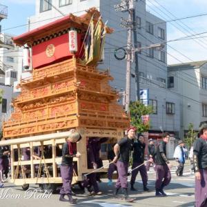 西町だんじり(屋台) 西条駅前 伊曽乃神社祭礼 西条祭り2018 愛媛県西条市大町
