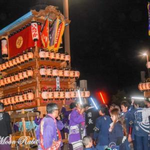 市塚だんじり(屋台) 後夜祭 西条駅前 伊曽乃神社祭礼 西条祭り2019 愛媛県西条市