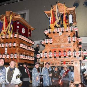 北之町下組だんじり(屋台) 後夜祭 西条駅前 伊曽乃神社祭礼 西条祭り2019 愛媛県西条市
