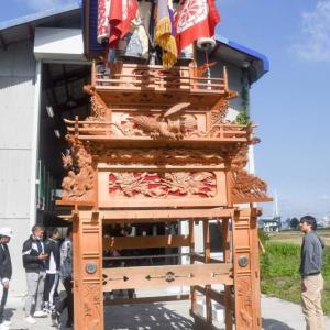 古川だんじり(屋台) 組み立て 伊曽乃神社祭礼 西条祭り2020 愛媛県西条市