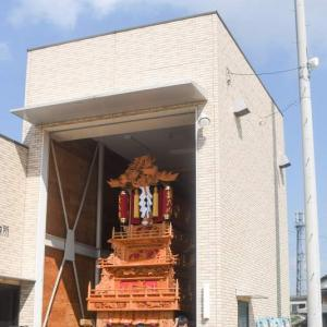藪乃内だんじり(屋台) 組み立て 伊曽乃神社祭礼 西条祭り2020 愛媛県西条市