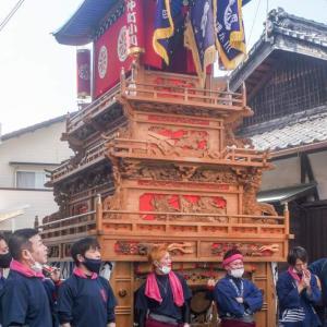 仲町小川だんじり(屋台) 運行 伊曽乃神社祭礼 西条祭り2020 愛媛県西条市