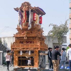 上神拝だんじり(屋台) 組み立て 伊曽乃神社祭礼 西条祭り2020 愛媛県西条市