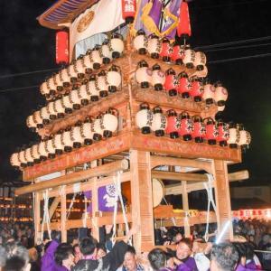 栄町下組だんじり(屋台) 御旅所 伊曽乃神社祭礼 西条祭り2019 愛媛県西条市