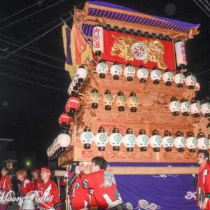 御所通りだんじり(屋台) 川入り後 西条祭り2019 愛媛県西条市