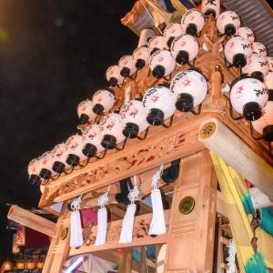 川沿町だんじり(屋台) 御旅所 伊曽乃神社祭礼 西条祭り2019 愛媛県西条市