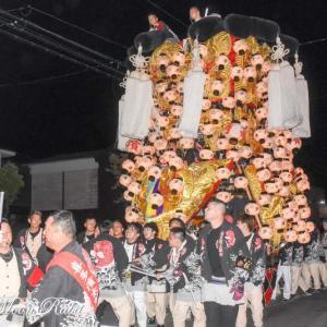 北浜みこし(御輿) 川入り後 伊曽乃神社祭礼 西条祭り2019 愛媛県西条市