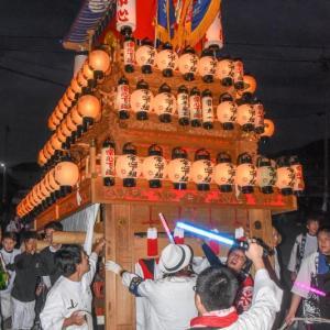 常心下組だんじり(屋台) 楢本祭2019 西条祭り 愛媛県西条市
