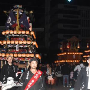 魚屋町だんじり(屋台) その2 下前後夜祭 御殿前 西条祭り2019 愛媛県西条市