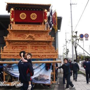 八丁だんじり(屋台) 自由運行 伊曽乃神社祭礼 西条祭り2019 愛媛県西条市