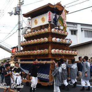 吉原三本松だんじり(屋台) その2 原之前荒神社祭 西条祭り2019 愛媛県西条市神拝