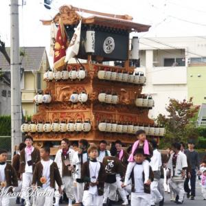 西新町だんじり(屋台) その1 原之前荒神社祭 西条祭り2019 愛媛県西条市神拝