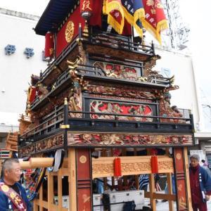 中之段だんじり(屋台) 西条駅 西条祭り2019 愛媛県西条市大町