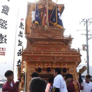 新出だんじり(屋台) 本殿祭 その2 石岡神社祭礼 西条祭り2019 愛媛県西条市