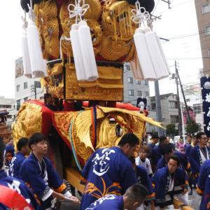 中西御輿(みこし) 自由運行 西条駅前 伊曽乃神社祭礼 西条祭り2019 愛媛県西条市