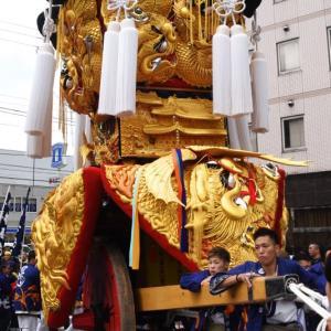 中西御輿(みこし) その2 自由運行 西条駅前 伊曽乃神社祭礼 西条祭り2019 愛媛県西条市