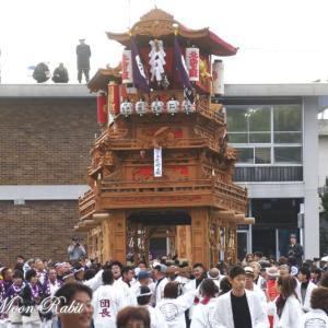 北之町上組だんじり(屋台) 御殿前 その1 伊曽乃神社祭礼 西条祭り2019 愛媛県西条市