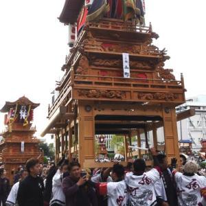 西町だんじり(屋台) 御殿前 その2 伊曽乃神社祭礼 西条祭り2019 愛媛県西条市